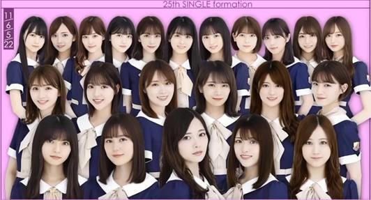 乃木坂46の25枚目選抜メンバー